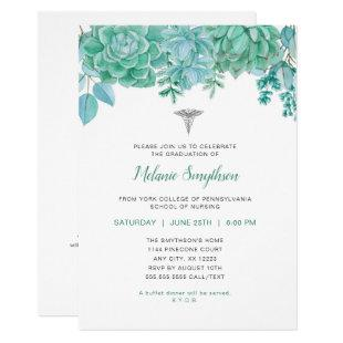 Nurse graduation or RN pinning ceremony Invitation