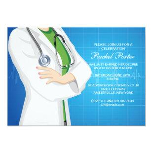 Nurse on Duty Graduation Invitation