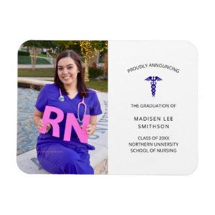 Nurse photo graduation announcement magnet