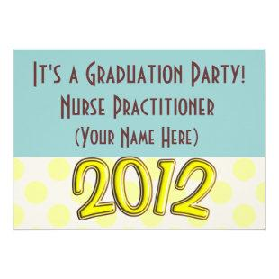 Nurse Practitioner Graduation Party Invitations
