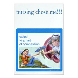 Nurse theme invitation