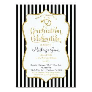 Nursing Graduation Party Invitation Nurse School