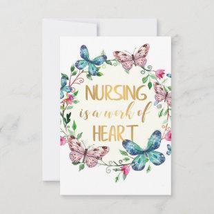 Nursing Nurse Thank You Appreciation Gift Quote
