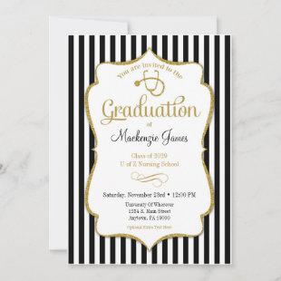 Nursing School Graduation Announcement Nurse Grad