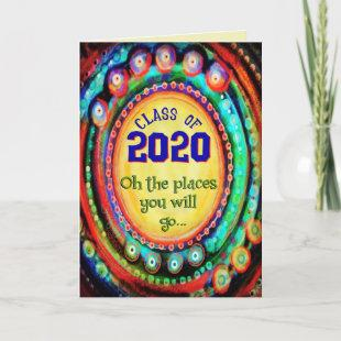 """""""Oh the Places you Will Go"""" Class of 2020 Card"""