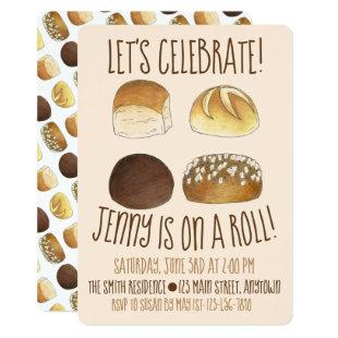 On a Roll Let's Celebrate Congratulations Party Invitation