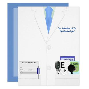 Ophthalmology or Optometry Graduation Party Invite