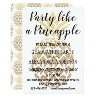 Party Like a Pineapple 2019 Graduation Party Invitation