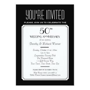 Party, Reunion or Event 5x7 Black Invitation