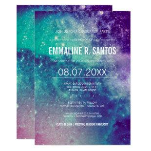 Pastel Galaxy Graduation Party Invite