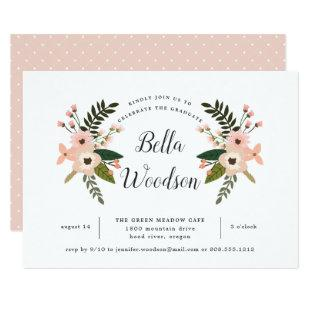 Peach Meadow Graduation Party Invitation