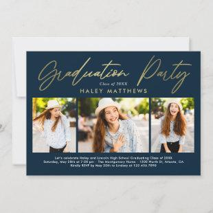 Penned Party Graduation Party Invitation