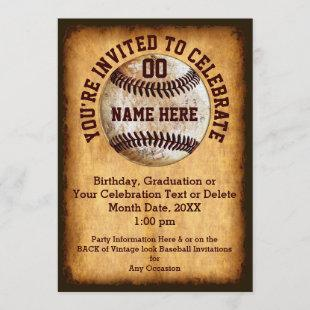 Personalized Baseball Invitation for Any Occasion