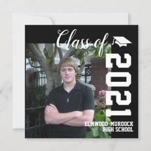Personalized Guys High School Graduation Announcement