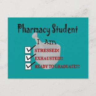 """Pharmacy Student """"Ready To Graduate!!!"""" Announcement Postcard"""