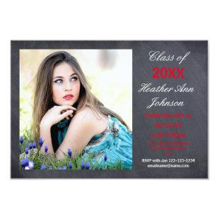 Photo Chalkboard Background -3x5 Grad Announcement