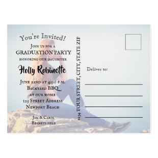 Photo Graduation Party Invitation Postcard