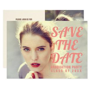 Photo Graduation Party Invitation. Save The Date. Invitation