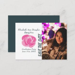 Pink Rose Save-the-Date Cards