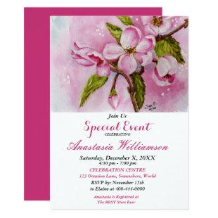 PINK SPRING FLING PARTY EVENT INVITE