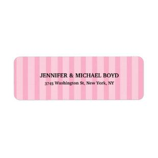 Pink Stripes Retro Stylish Classical Family Label