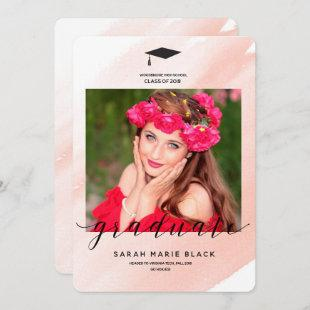 Pink Watercolor Announcement and Invitation