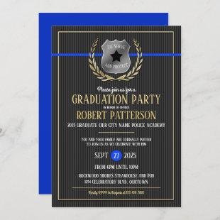 Police Academy Graduation Party Invitations