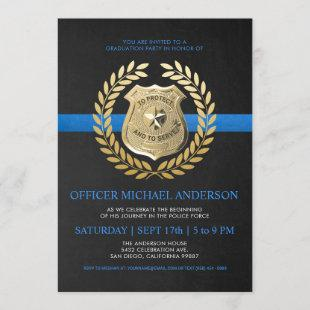 Police Graduation Invitations | Police Badge