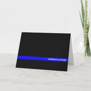 Police Officer Thin Blue Line Card