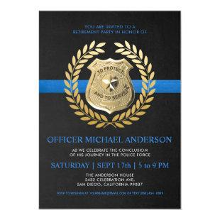 Police Retirement Invitations | Police Badge