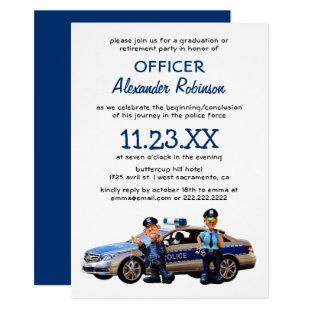 Police Retirement or Graduation Party Invitation
