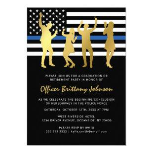 Police Retirement Party | Thin Blue Line Invitation