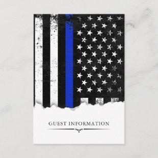 Police Style American Flag Party|Event Small Enclosure Card