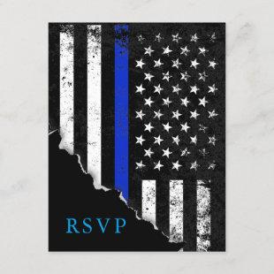 Police Styled American Flag RSVP Reply