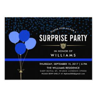 Police Surprise Party Invitation