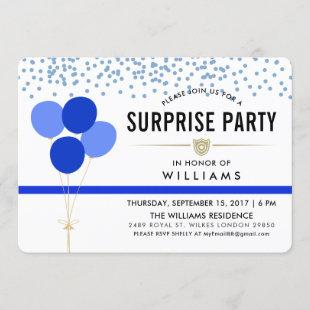 Police Themed Surprise Party Invitation