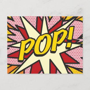POP Your Message Speech Bubble Fun Retro Announcement Postcard