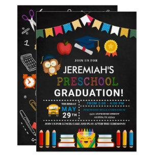 Preschool Graduation Chalkboard Invitation