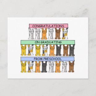 Preschool Graduation Congratulations. Announcement Postcard