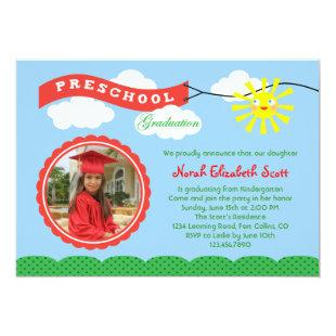Preschool Graduation Photo Invitation