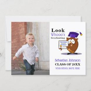Preschool Kindergarten Photo Graduation Announcement