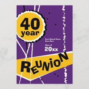 Purple and Gold 40 Year Class Reunion