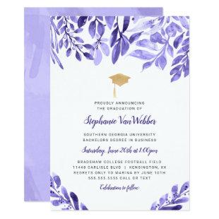 Purple Graduation Celebration invitation