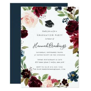 Radiant Bloom Graduation Party Invitation