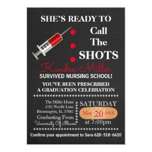 Ready To Call The Shots Graduation Invite
