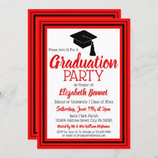 Red and Black Photo Graduation Party