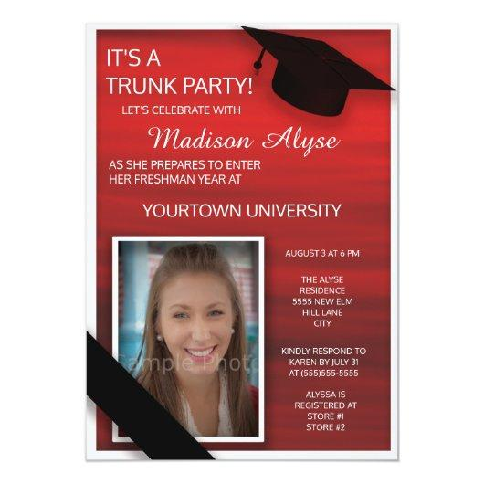 Red Black White College Trunk Party Photo