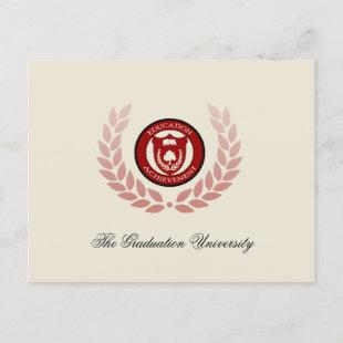 Red College/University Graduation Announcements