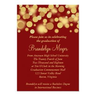 Red Gold Celebration Graduation Announcement