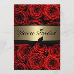 Red Roses Graduation Party Invitation